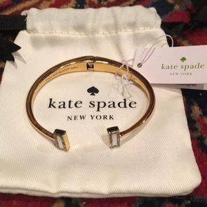Kate Spade Raise the Bar gold bangle bracelet